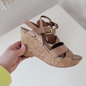 FRANCO SARTO Farley Wedge Sandals